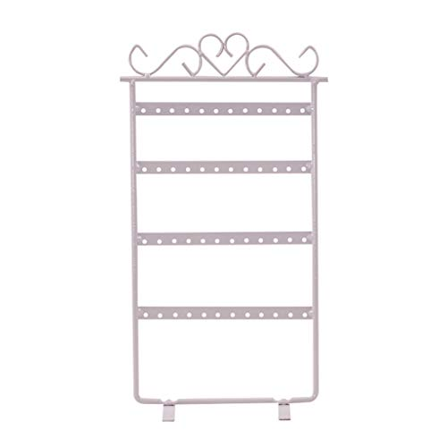 Unionm 4 Layer 48 Holes Metal Rotatable Earring Display Rack Stands Jewelry Organizer, Closet Makeup Organizer Storage Bag Storage Bins Cubes Organizers and Storage (White) (White Cedar Chest Wicker)