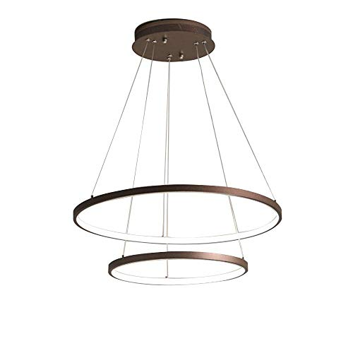 Mengzhu-Michelle Pendant Lamp LED Dimmable Dining Room Modern Round Lamp 2 Ring Design Hanging Lamp Chandelier Decoration Light Fitting Living Room Dining Table Kitchen Hanging Lamp 55W -