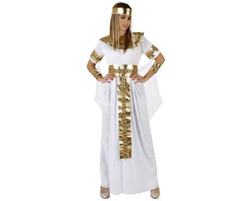 Atosa-97063 Disfraz Egipcia, color blanco, XL (97063)