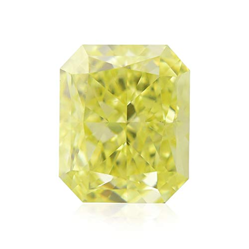 0.55Cts Fancy Yellow Loose Diamond Natural Color Radiant Cut GIA Certificate