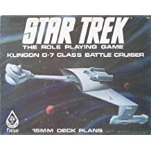 Klingon D-7 Class Battle Cruiser: 15mm Deck Plans (Star Trek RPG) [BOX SET]