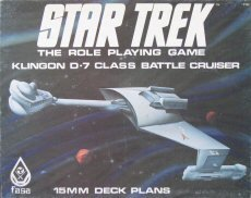 (Klingon D-7 Class Battle Cruiser: 15mm Deck Plans (Star Trek RPG) [BOX SET])