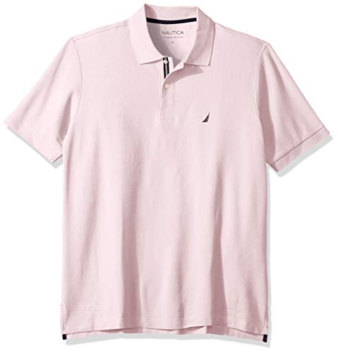 Nautica Men's Classic Fit Short Sleeve Solid Performance Deck Polo Shirt, Cradle Pink, 4X ()