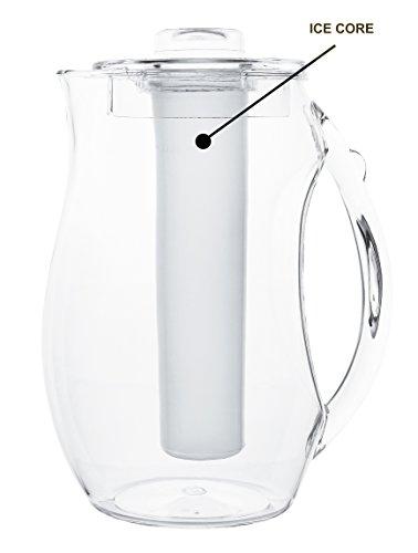 Estilo Acrylic Fruit Infusion Pitcher with Ice Core 2 Liter (72 oz/2.1 quart) by Estilo (Image #1)