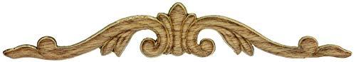 UNIQANTIQ HARDWARE SUPPLY Decorative Crown Wood Applique Oak - 10