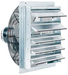 Fantech 2SHE1871 Axial Wall Shutter Fan, Direct Drive, 1/15 HP, 115V, 1 Ph, TEFC, 18
