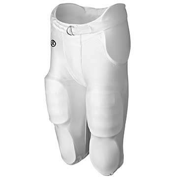 (Rawlings Youth Football Integrated Pant with Built-in Pads from (White) )