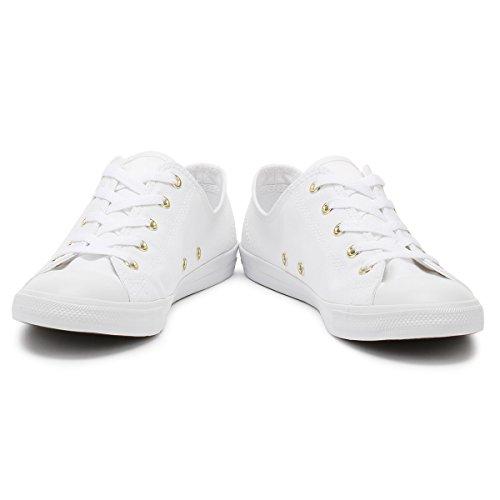 Converse Women's Chuck Taylor CTAS Dainty Ox Low-Top Sneakers White (White/White/Gold 102) edB3j0e32