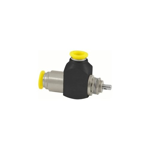 Clippard CR-GV-3-P12 Cr 3-Way Stem Valve, 3/8'' Push-Quick Fittings, Corrosion-Resistant Materials