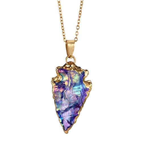 DDKK Hot New Sale!!! Women Fashionable Colorful Stone Swarovski Crystal Unique Natural Gold Plated Forever Lover Heart Pendant Necklace Chain,Mother's Day/Anniversary/Birthday Girl Gift (Purple)