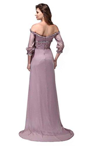 Lange Abschlussball Chiffon Kleider Hälfte ärmel Damen Hot 54 Queen Elegante 2015 Trägerlos wqxU0UZ8O