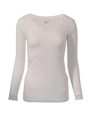 MonsterCloset Long Sleeve V Neck Top Jersy Lycra