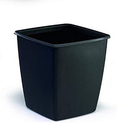 capacidad de 18 l., 300 x 320 x 300 mm Papelera color negro Durable 1701579221