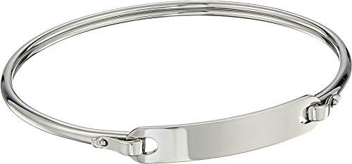 (Fossil Women's Plaque Steel Bracelet, One Size)