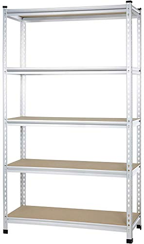 AmazonBasics Medium Duty Storage Shelving Single Post Press Board Shelf, 48 x 18 x 72 Inch, ()