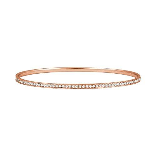 14k Rose Gold Diamond Bangle - FB Jewels 14K Rose Gold 1 1/2 CTW Diamond Bangle Bracelet 7