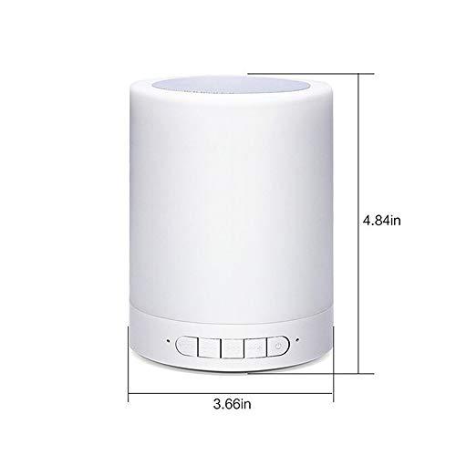 Lámpara De Cabecera Touch - con Altavoz Bluetooth, Lámpara De Mesa Exterior con Control Táctil Inteligente, El Mejor...