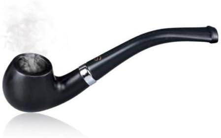 Tabaco de fumar pipa de mader clásica modelo, negro