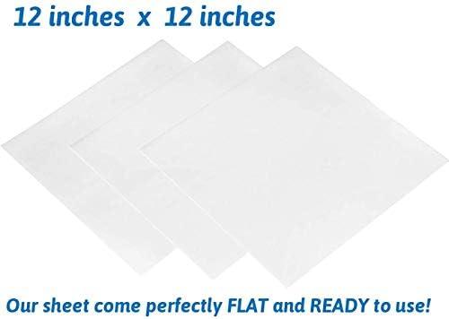 Lya Vinyl 55 hojas de vinilo adhesivo permanente blanco mate de 12 ...