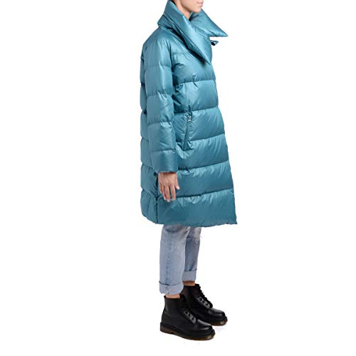Tessuto Di Lungo Puffa Delle Big Jacket Piumino Long Women's Light blue Pancetta Azzurro Azzurro Down Fabric Puffa Blue Donne Bacon Grande Light wPqBnTxpp