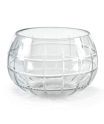 (Serene Spaces Living Fishbowl Glass Vase, Wedding or Event Centerpiece, Measures 4.5