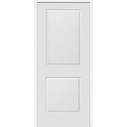 National Door Company Z009476L Solid Core Molded 2-Panel Left Hand Prehung Interior Door, 32'' x 80'' by National Door Company