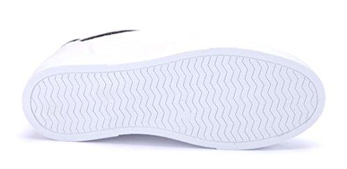 Schuhtempel24 Damen Schuhe Low Sneaker Weiß Flach Glitzer