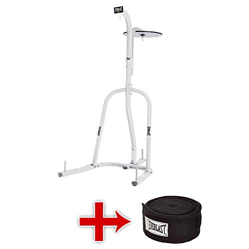 Everlast - 2 Station Heavy Bag Stand with Freebies (White)