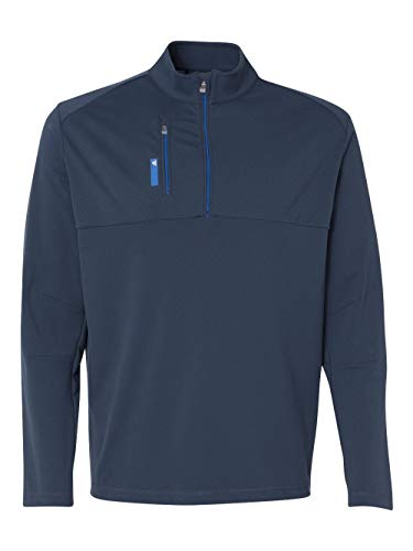 AD MENS 1/4 ZIP PULLOVER (RICH BLUE/BRT RY) (XL)