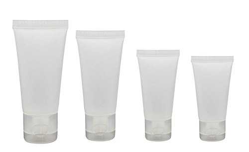20PCS Transparent Empty Refillable Plastic Packing Sample Soft Tubes Bottle Container For Cosmetics Shampoo Cleanser Shower Gel Body Lotion (50ml)