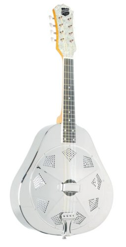 Recording King RA-998 Metal Body Resonator Mandolin, Nickel-Plated