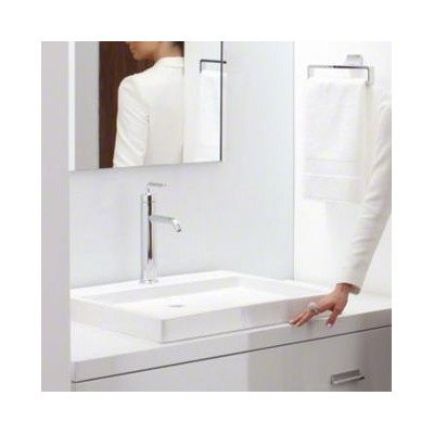 (Purist Wading Pool Above-Counter/Wall-Mount Bathroom Sink with Single Faucet Hole Finish: White)
