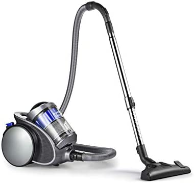 Eureka Swan SC15814N, Multi Force Bagless Cylinder Vacuum, Anti allergen HEPA Filter, Multi cyclonic Technology with No Loss of Suction, Silver