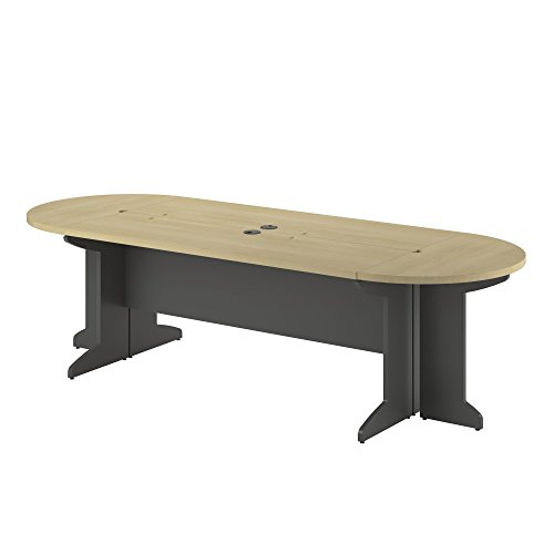 Ameriwood Home Pursuit Large Conference Table Bundle, Natural