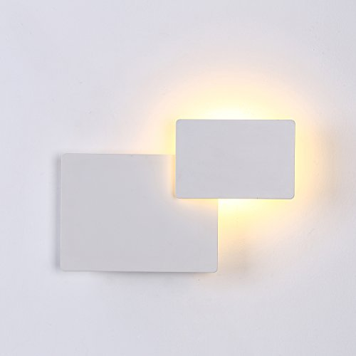 Topmo-plus 5W LED Wall Lamp 360 Degree Rotatable Wall sconce Aluminum/plug in wallspot/Design Wall Spot for Stairs Living Room Bedroom Balcony Hotel office/Warm White 3000K 550LM Angular 15 CM