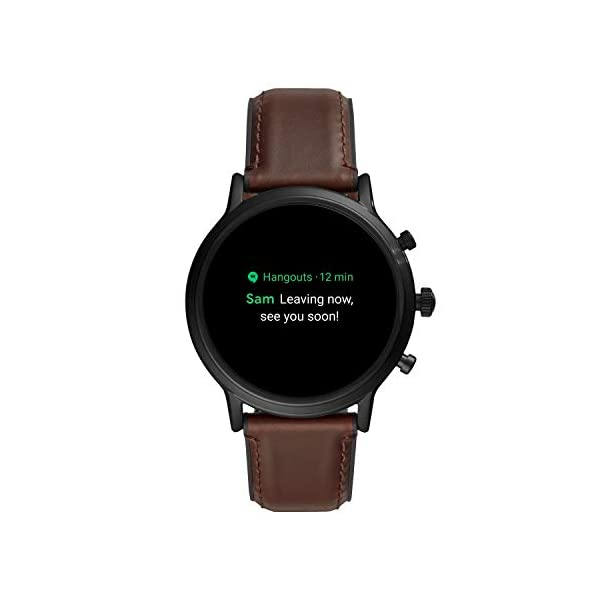 Fossil-Gen-5-Carlyle-Stainless-Steel-Touchscreen-Smartwatch-with-Speaker-Heart-Rate-GPS-NFC-and-Smartphone-Notifications