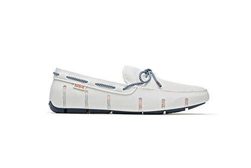 SWIMS Stride Lace Loafer In White/Slate Fleck, Size 11 by SWIMS