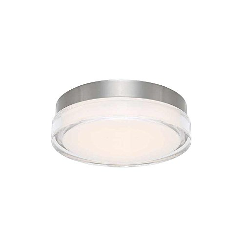 WAC Lighting FM-W57812-35-SS Dot Round Flush Mount LED Fixture, Stainless Steel