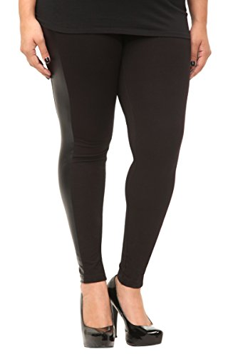 Faux Leather Stripe Leggings