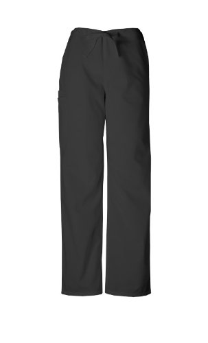 Cherokee Workwear Drawstring Pant (Scrubs - Authentic Cherokee Workwear Unisex Scrub Pant (Black, S))