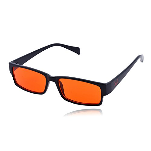 OX Legacy Blue Light Blocking Glasses, Orange Lens Rectangle Computer Eyewear