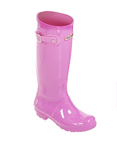 Women's Pink Wellington Boots