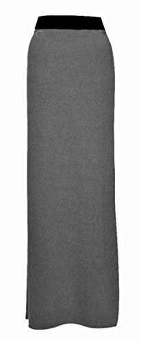 Maxi robe Motif pour Gris longue Charbon bohmien Jersey Flirty Desire femme Wardrobe Clothing en style Jupe E1T8w5