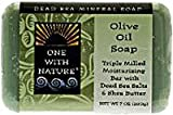 Food Diet For Clear Skin - One With Nature Dead Sea Olive Oil Bar Soap, 7 Ounce - 2 per case.