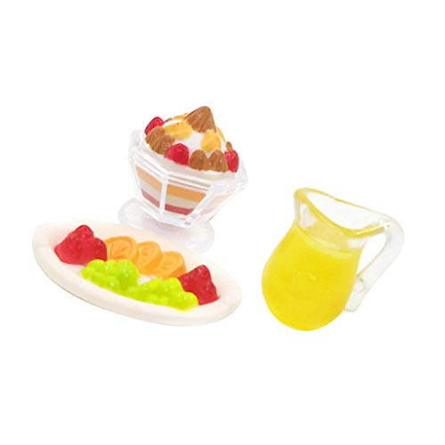 NATFUR Cute 1/12 Dollhouse Miniatures Food Groceries Kitchen Accessories Supply