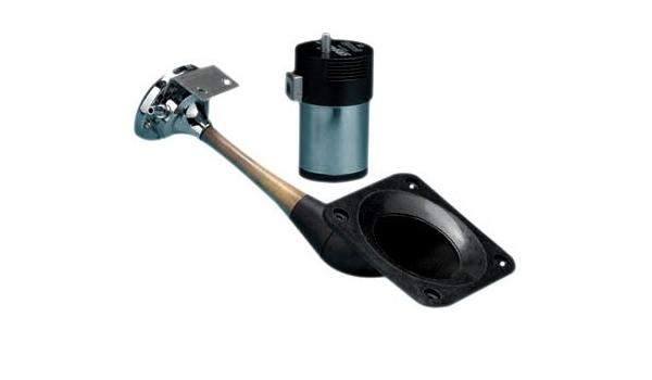 12-Volt, Chrome AFI 10105 Heavy Duty Marine Single Trumpet Deck Air Horn