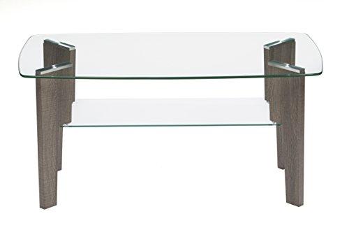 Mango Steam Mid Century Modern Glass Top Coffee Table, 37'' L x 20'' W by Mango Steam (Image #3)'