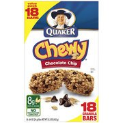 - Quaker Chewy Chocolate Chip Granola Bars, 18 Ct
