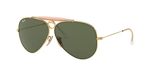 - Ray-Ban 3138 001 Arista Shooter Aviator Sunglasses Lens Category 3 Size 58mm