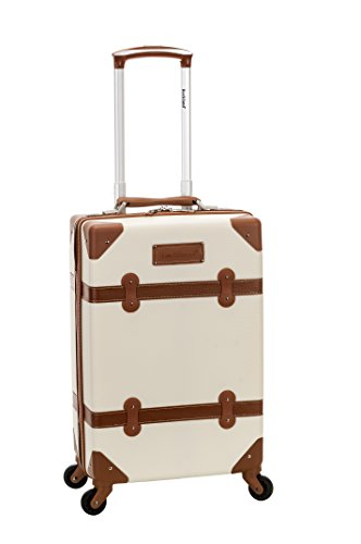 Rockland Stage Coach 20 Inch Rolling Trunk, White, One Size